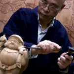 Wooden carving SOSHU